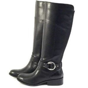Marc Fisher Medium Calf Leather Riding Boots